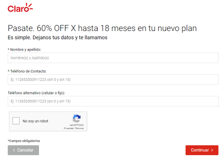 Solicitar portabilidad Claro Argentina en linea