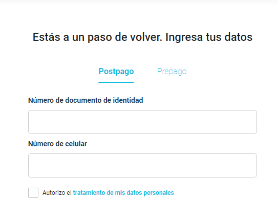 Solicitar portabilidad a Claro Perú en línea
