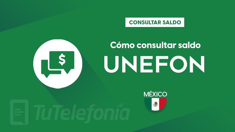 Consultar saldo Unefon México