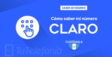 Saber mi número Claro Guatemala