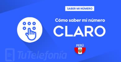 Saber mi número Claro Perú