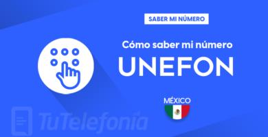 Saber mi número Unefon México