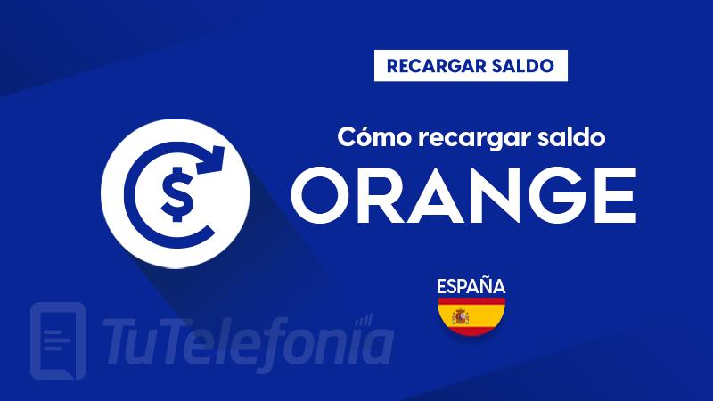 Recargar saldo de Orange España