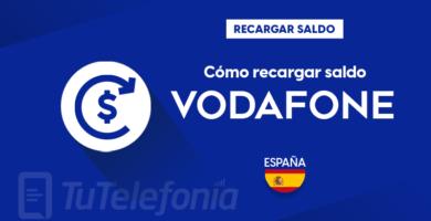 Recargar saldo de Vodafone España
