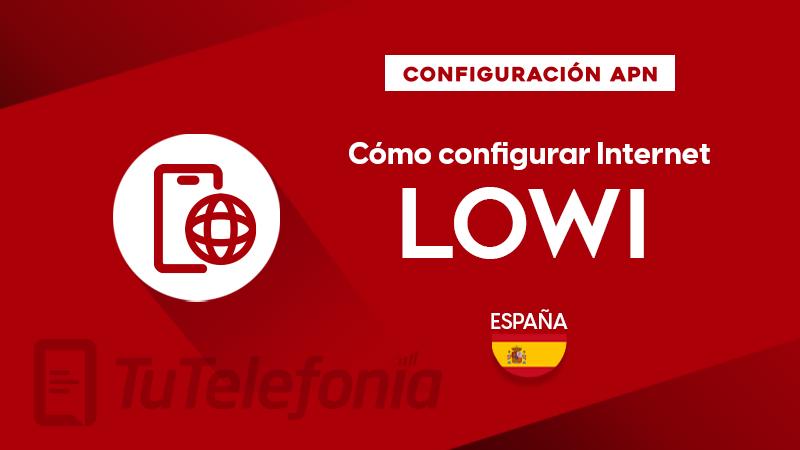 Cómo configurar APN de Lowi España